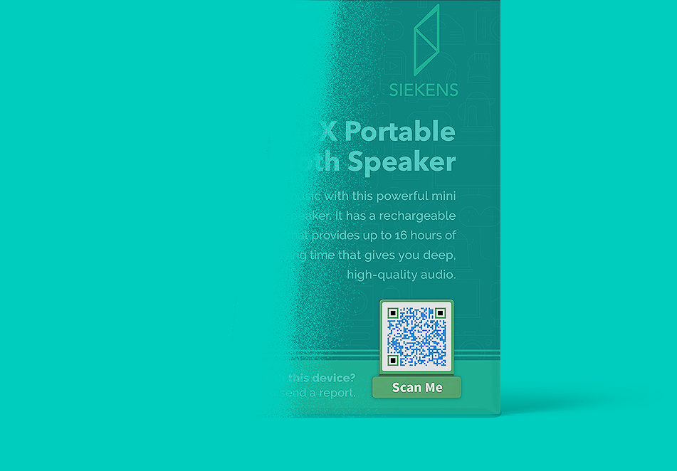Email QR Code idea on a consumer electronics' packaging