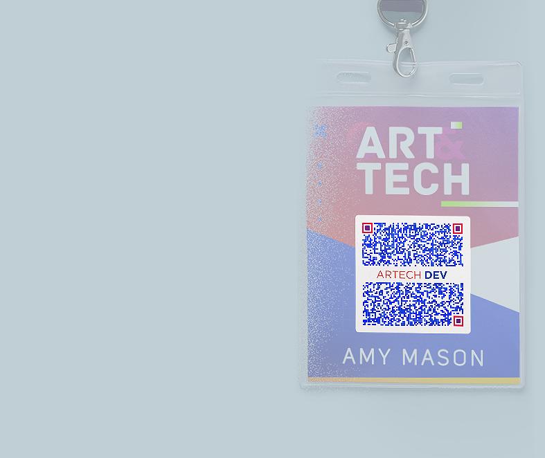 vCard-QR Code-Idee auf einem Mitarbeiterausweis