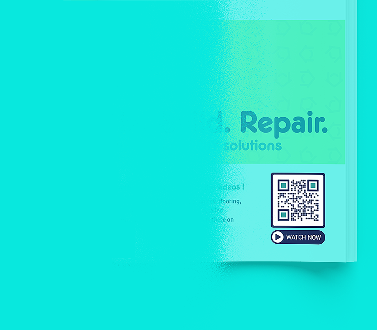QR Code idea for a home repairs company that displays Youtube videos